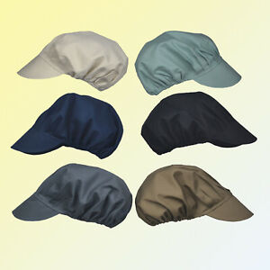 Professional Catering Hat Food Hygiene Snood Cap Chef Bakers Bouffant Peaked Cap