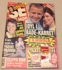 """Madonna Front Cover Sexy Photos Inside of Vtg Danish Magazine 1990 """"Se og Hoer"""""""