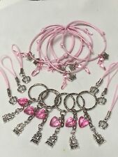 Princess Party Bag Fillers Friendship Bracelets Cords & Keyrings X 18 Pieces
