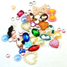 1mm-10mm Mixed Bowknot Nail Studs Resin Colorful 3D Nail Decoration For UV Gel