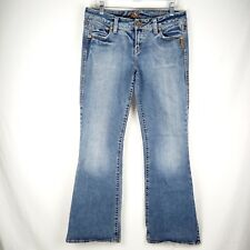 Silver Jeans Lola Women Size 30 / 33 Low Rise Boot Cut Stretch Distressed