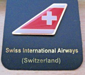 SWISS INTERNATIONAL AIRWAYS AIRLINE (SWITZERLAND) TAIL PIN BADGE