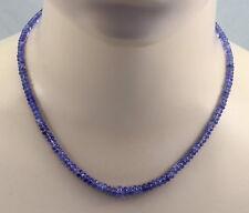 Tansanitkette violett-blaue Tansanit Rondelle Halskette in 45,5 cm Länge