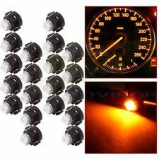 10pcs T3 1SMD 12V Car Wedge LED Bulbs Dash Climate  Interior Lights yellow
