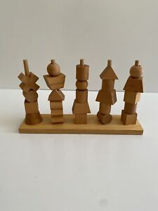 Wooden Story Natural Wooden Shape Stacker Toy