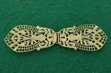 Vintage Ladies Ornate two Piece Brass Belt Buckle
