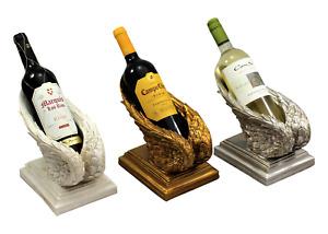 Angel Wing Wine Bottle Rack Holder Ornate Vintage Shabby Decor Cherub Decoration