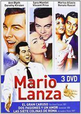 MARIO LANZA : SERENADE /GREAT CARUSO / SEVEN HILLS OF ROME (DVD) PAL Region 2