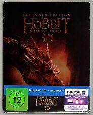 DER HOBBIT SMAUGS EINÖDE 3D/2D 5-DISC EXTENDED BLU-RAY STEELBOOK NEU OVP SEALED