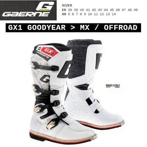 Stivali enduro cross moto GAERNE GX1 GOODYEAR OFFROAD white bianco 2184004
