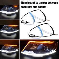 2pc 60cm Car DRL Daytime Running Lamp Strip Light  Flowing Turn Signal LED Lamp