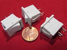 3 Pcs  Joemex SPST Mini Snap-In Rocker Switch, 83 Series, 125V 15A, 250V 10A T85