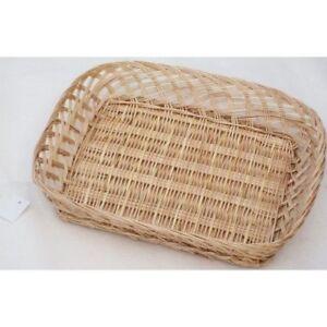 """WHOLE SALE.JOB LOT Wicker Open Weave Gift Hamper /Tray - 15"""" (38cm) Pack of  10"""