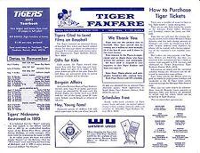 "1971 DETROIT TIGERS ""TIGER FANFARE"" BASEBALL NEWSLETTER - DATED 1971 SEASON A"