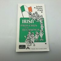 1992 Irish Proverbs + Blessings Irish Note Pad Vintage Unused  W6