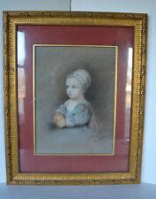 Painting Pastel Italy Baby Stuart Giovanni Battista Canevari af. Van Dyck Framed
