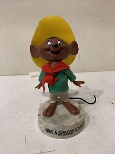 "Vintage SPEEDY GONZALEZ 8"" Goofy Gram DAKIN DOLL w Base 1971"