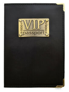 VIP Passport Cover ID Travel Holder Men Women Wallet Case Faux Leather Organizer