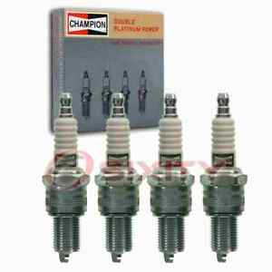 4 pc Champion Double Platinum Spark Plugs for 1950-1951 Austin Hereford 2.2L mm