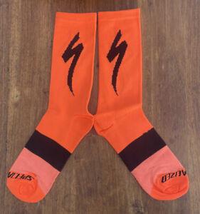 New Orange SPECIALIZED S-Works CYCLING Tall SOCKS UK SIZE 39-44 road bike socks