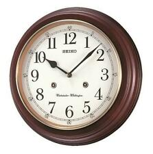 "NEW SEIKO  WALL CLOCK -DUAL CHIMES - ARABIC NUMBERS   12.3"" DIAMETER  QXH202ZLH"