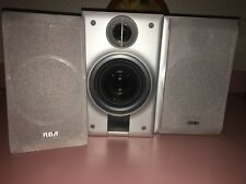 RCA RS2054 Mini Home/Bookshelf Speakers Wired -Pair(2) Approx 9 1/2 X 7 1/2 X 6