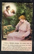 c1915 WW1 Bamforth Songcard: I Shall Never Cease to Love You No 3