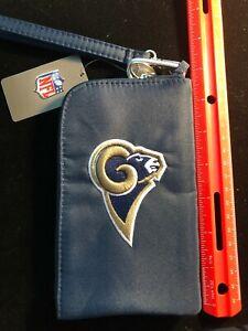 NEW St. Louis Los Angeles Rams ID Wallet / Phone Case - Zipper Pouch - NFL
