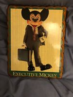 Vintage Walt Disney Executive Mickey Mouse Lacquer Wall Plaque Hanging—