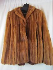 Vintage Davidson's Indiana Fur Company Cape Coat Brown Mink M/L See Measurements