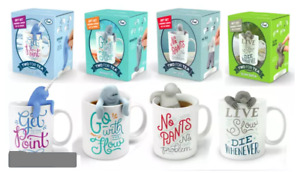 Genuine Fred Two for Tea Boxed Gift Set! Mug & Silicone Infuser BEST Gift Ever!