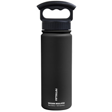 Fifty/Fifty 18oz BLACK Insulated Stainless Steel Water Bottle 3 Finger Lid