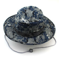 New Outdoor Bucket Hat Boonie Hunting Fishing Men Cap Washed Cotton &Strings
