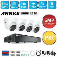 ANNKE Ultra HD 5MP 8CH DVR Outdoor 5MP PIR Detection CCTV Security Camera System