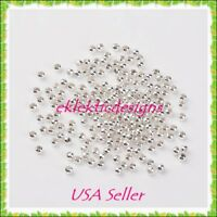 4mm 100 pc Silver Plated Metal Spacer Beads Jewelry Findings Earrings Necklace