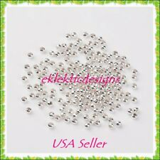 2mm 250 pc Silver Plated Metal Spacer Beads Jewelry Findings Earrings Necklace