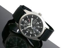 Seiko 5 SNZG15K1 Automatic Black Dial Black Nylon Analog Military Men's Watch