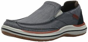 SKECHERS MEN'S ELSON-AMSTER MOCCASIN NAVY 9 M US 65391