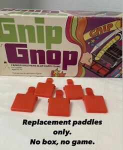Lot of 5 1971 Parker Brothers Gnip Gnop Slap-Happy Game Replacement Paddles Vtg