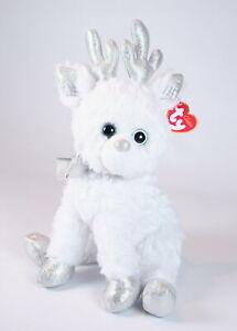 "ty beanie buddy 10"" SNOCAP THE REINDEER Christmas Xmas plush soft toy - NEW!"