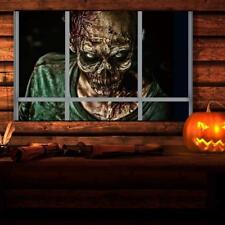 3D Scary Horror False Window Wall Sticker Zombie Devil Halloween Decal Decor