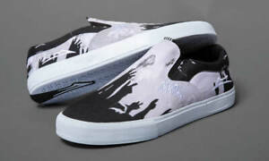 Lakai Skateboard Shoes Black Sabbath Owen VLK Black/White Canvas
