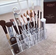 NEW GL BRUSH HOLDER ACRYLIC MAKEUP ORGANISER STORAGE GIFT LADIES HOLDS BRUSHES