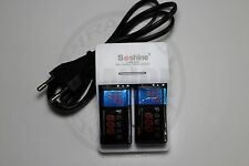 CHARGEUR SOSHINE + 2 PILES BATTERIE 9V NI-MH 600mAh RECHARGEABLE BATTERY ACCU