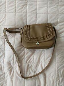 Girl Handbag Brown Faux Leather Used messenger bag
