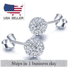 Crystal Glass Stud Earrings (Crystal) ~ US Seller ~ BRAND NEW (Quick Ship)