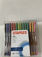 New listing Staples Gel Stick Pens 70 Pack Assorted New