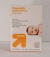 2 UP & UP 4 OZ.Disposable Bottle Liners BPA-free Pre-Sterilized Sealed 100 Count