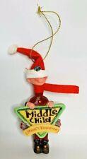 Kurt S Adler Christmas Ornament Mom's Favorite Middle Child Boy