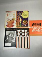 Halloween Greeting Cards New Lot of 5 Hallmark American Greetings Tender Thought